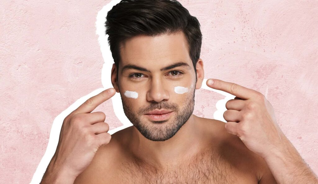 A Man Performing His Microneedling Aftercare Routine